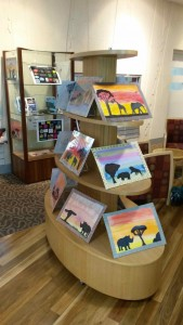 African Inspired Artwork In The Library Foyer.