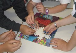 Things got really frantic at the end as all the teams were trying to be the first to finish their puzzle!